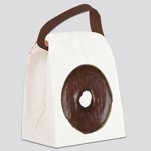 Chocolate Glazed Donut Canvas Lunch Bag